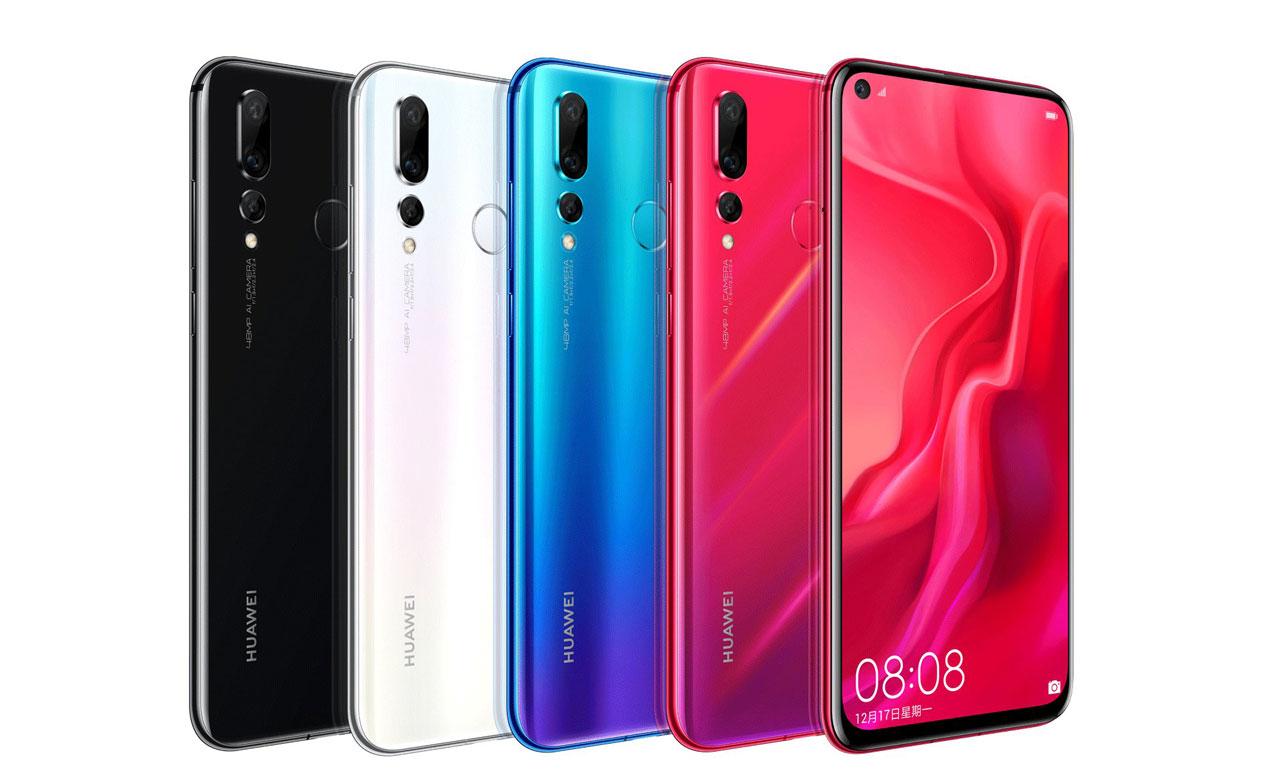 smartphone Nova 4 en différent coloris