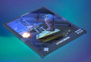 smartphone pliable en mode tablette pour jeux-vidéo