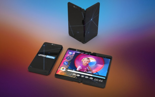 smartphone foldable lg 3 views